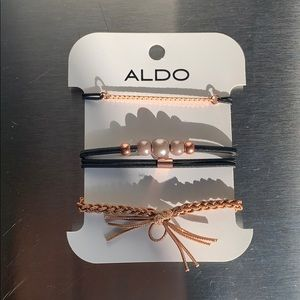 ALDO STACK OF BRACELETS IN ROSE GOLD